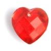 Glass Bead Briolettes 10x10mm Heart Shape Siam Ruby